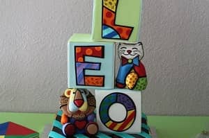 Colorful Britto - Baby Shower Cake