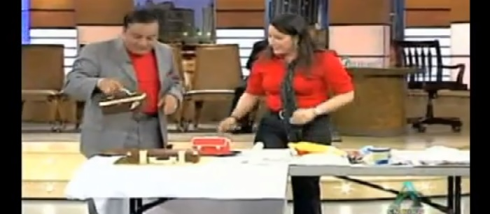 Carolina Montoya @ Fernando Hidalgo's Tv Show...with our Unique cake.